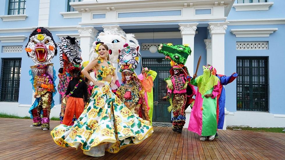 Reina del Carnaval 2017, Stephanie Mendoza, en la Feria de Cali