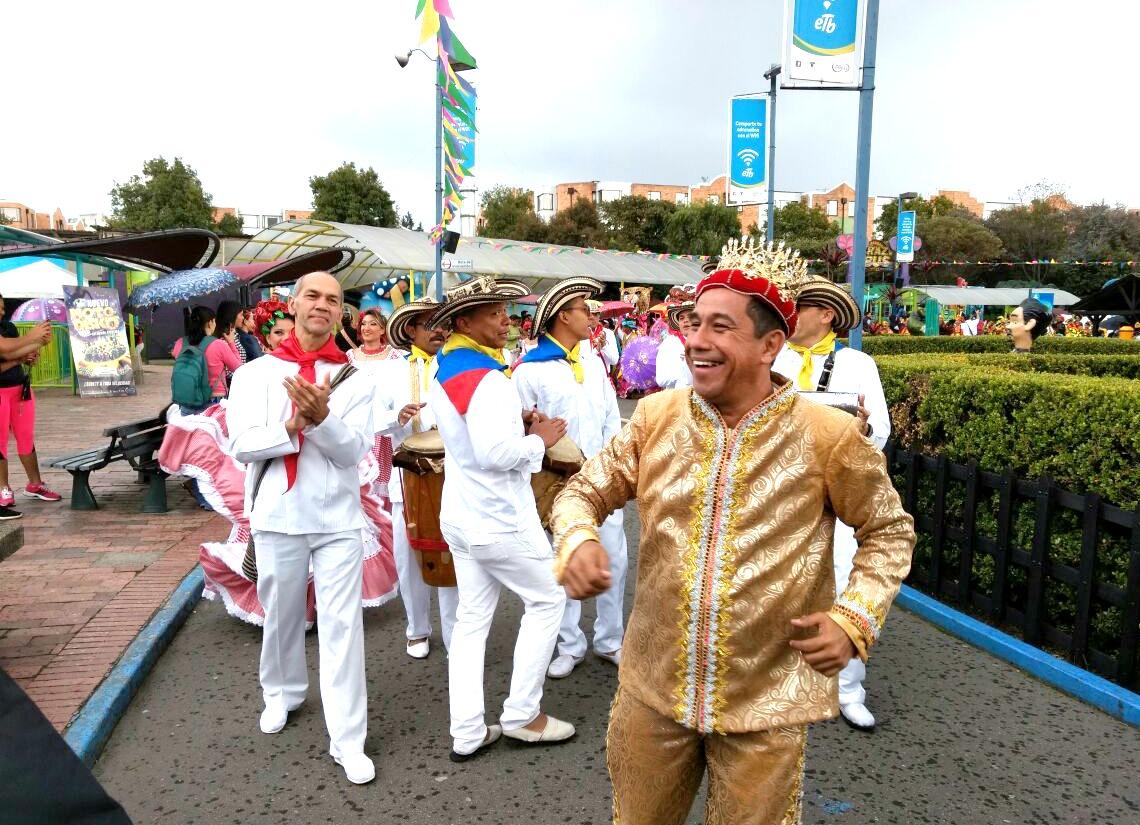 El Carnaval de Barranquilla se vivió en Bogotá