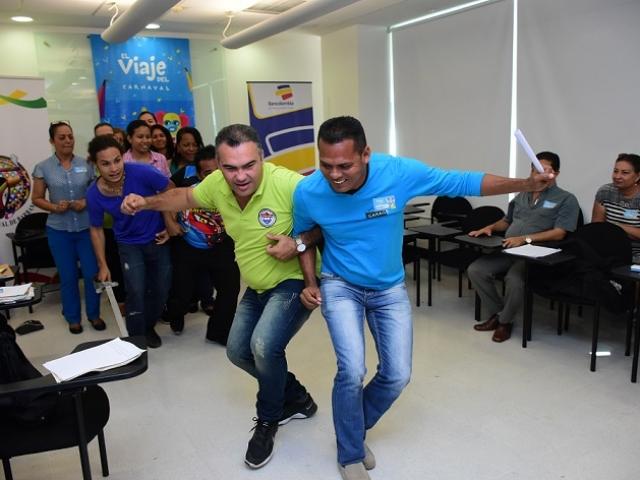 La danza de Congo estuvo presente durante la actividad con los docentes.