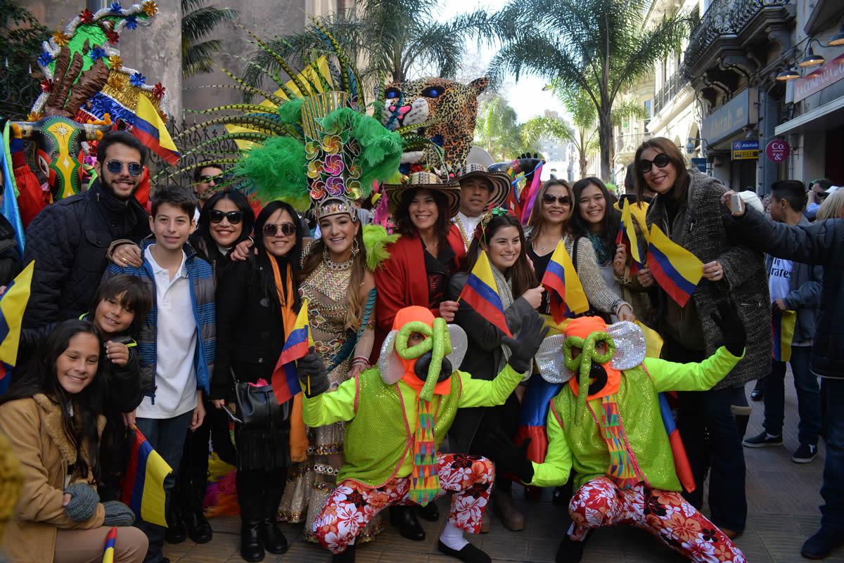 El Carnaval de Barranquilla se tomó Uruguay en la celebración del 20 de julio