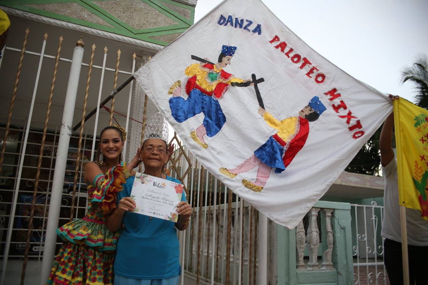 Ángela Pedroza, directora de la Danza del Paloteo Mixto