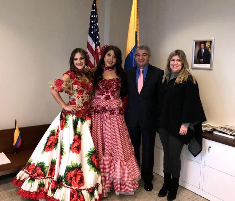 La alegría del Carnaval de Barranquilla se vivió en Nueva Jersey con Valeria Abuchaibe