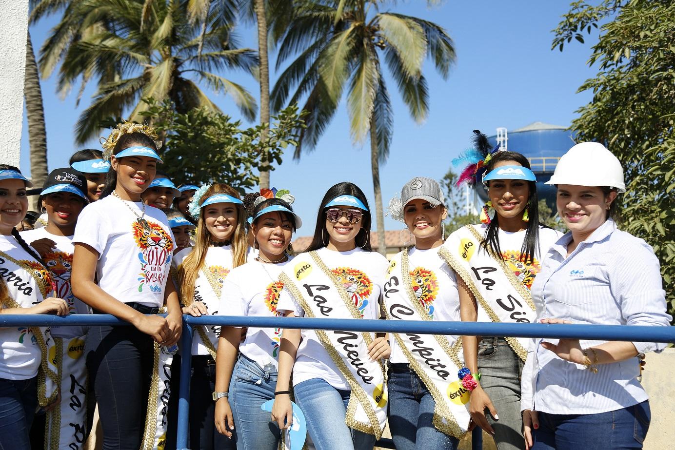 Las Reinas Populares visitaron el Acueducto de Barranquilla