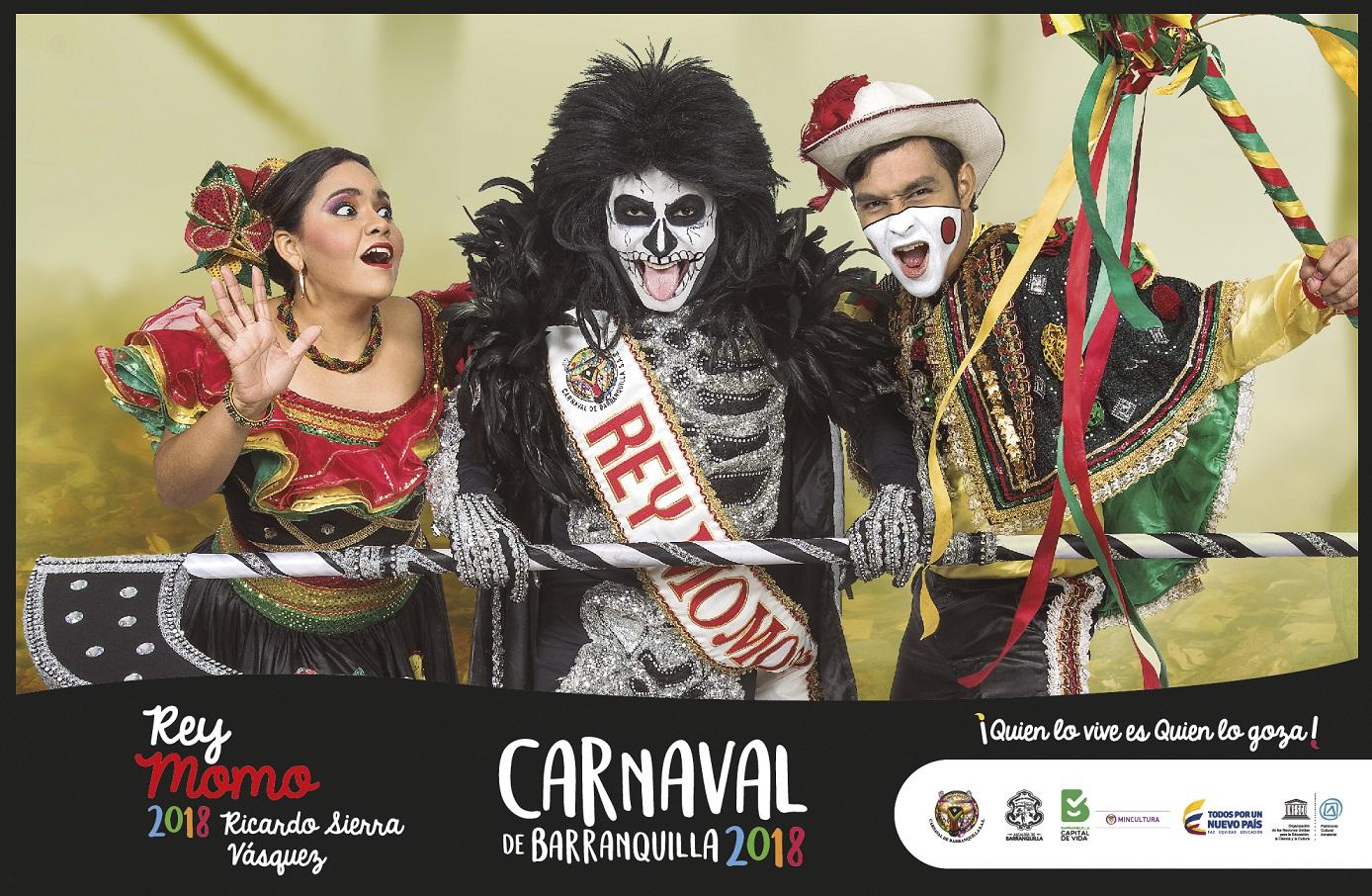 Afiches de los Reyes del Carnaval de Barranquilla 2018, un homenaje a las tradiciones