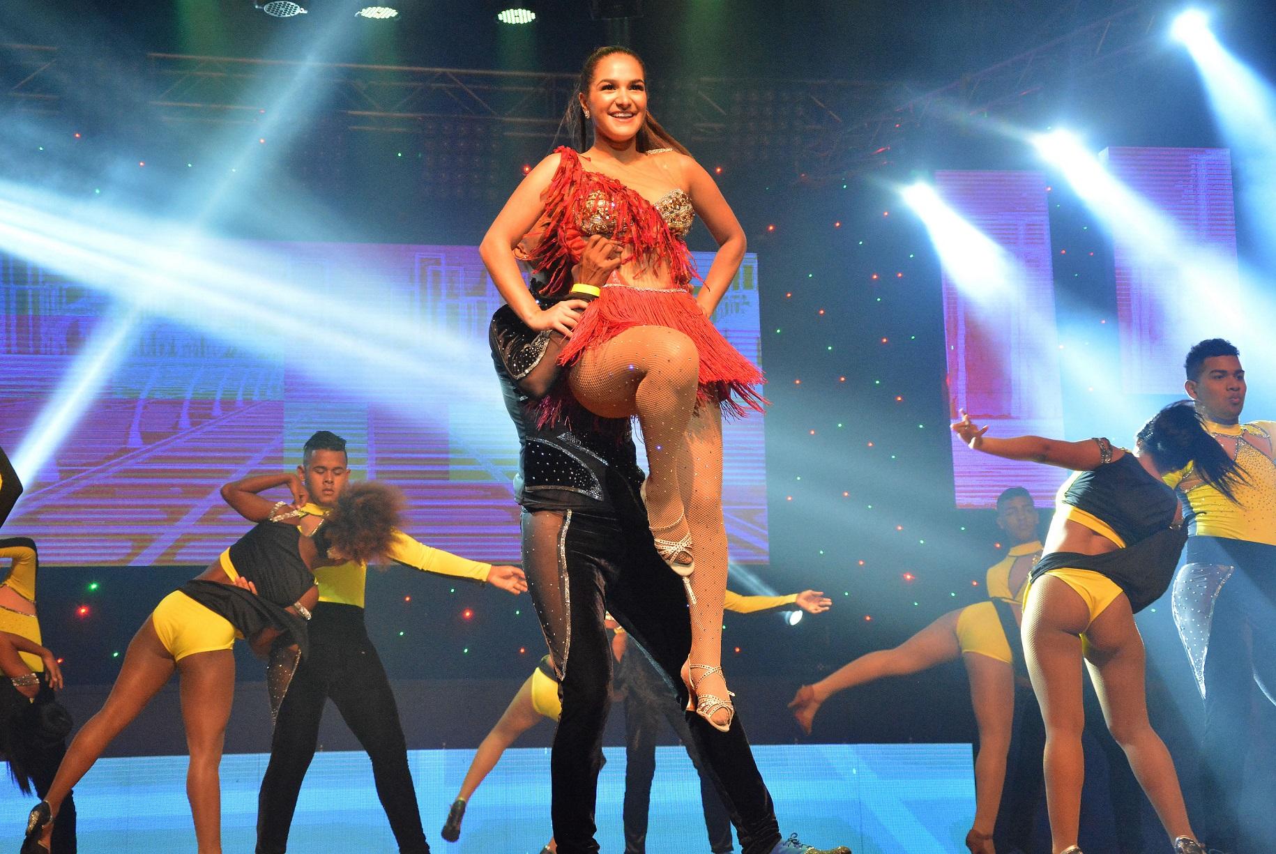 La Reina Valeria durante el espectáculo.