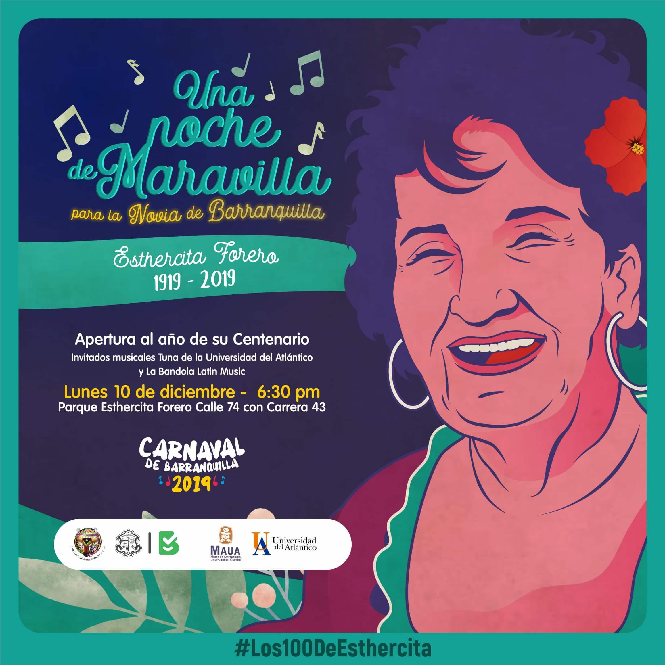 Apertura celebración centenario del natalicio de Esthercita Forero
