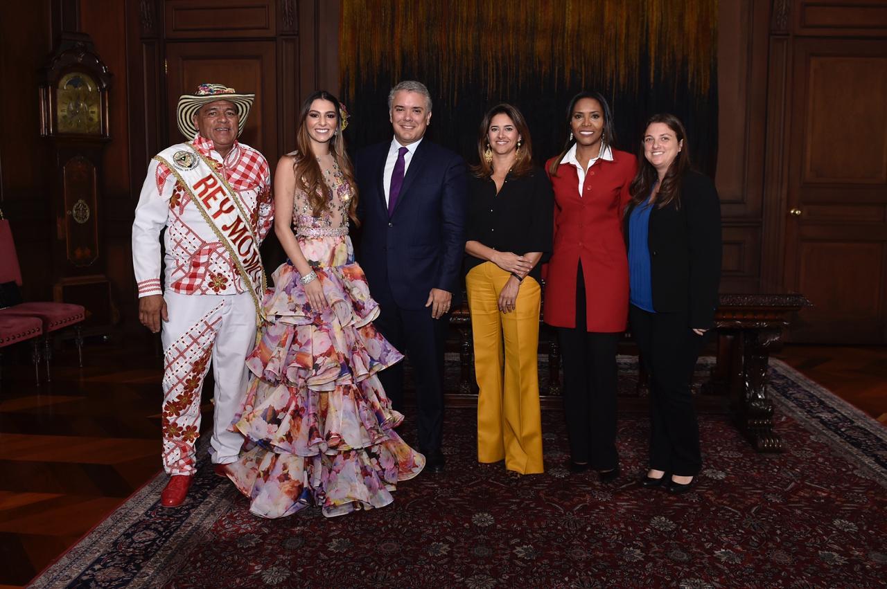 El Palacio de Nariño se llenó de 'Pura Alegría' con los Reyes del Carnaval de Barranquilla