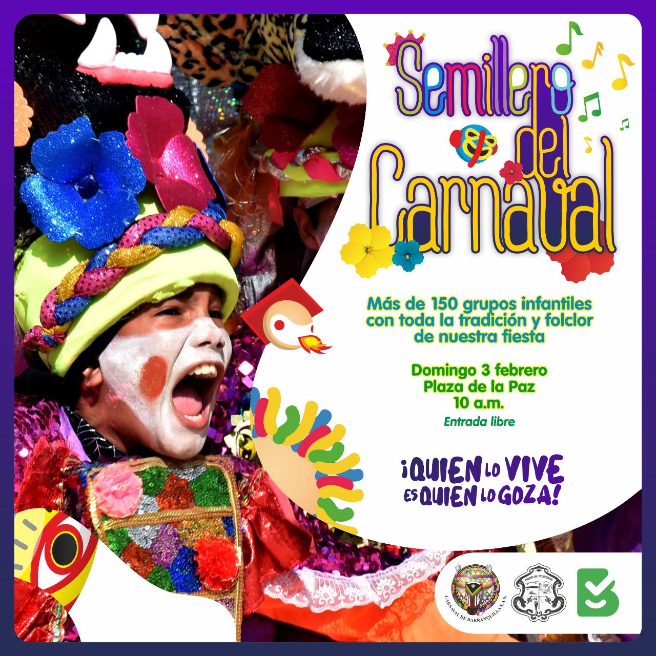 Este domingo, Regresa el Semillero del Carnaval con la participación de 156 grupos