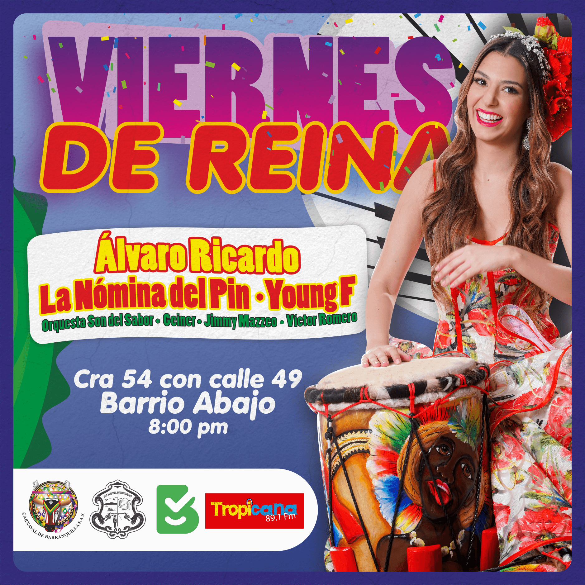 Viernes de Reina y Verbena 'La Gozadera' se toman Barrio Abajo