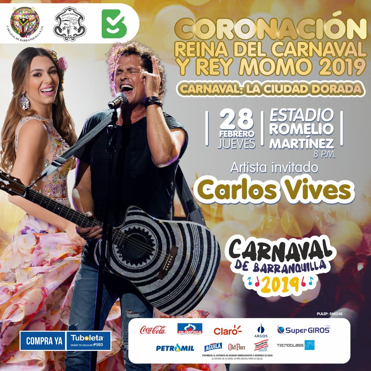 Todo listo para la gran coronación de los Reyes del Carnaval este 28 de febrero