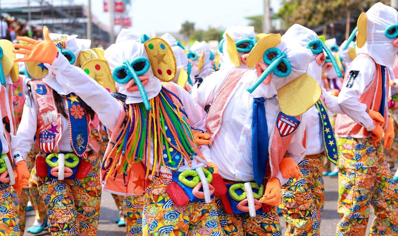 Carnaval en la final del fútbol en el Metropolitano
