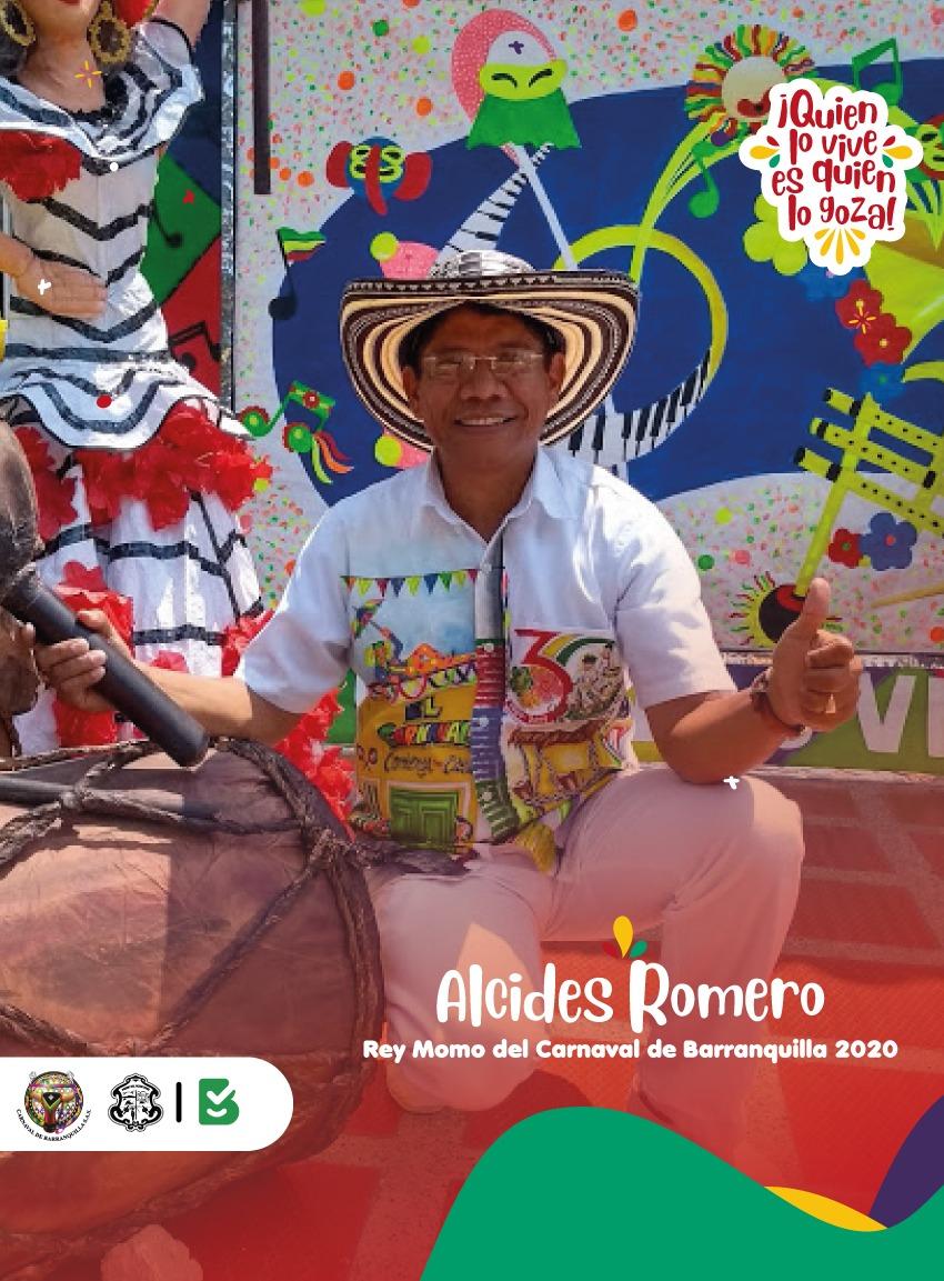 Alcides Romero, representante del Semillero, Rey Momo 2020