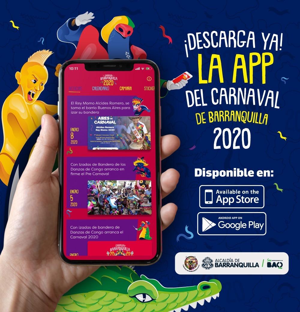 Lista la aplicación móvil del Carnaval de Barranquilla 2020