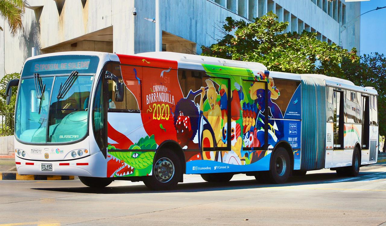 Desde hoy rueda en la ciudad, el 'Bus Carnavalero', pa' que se mueva la gente