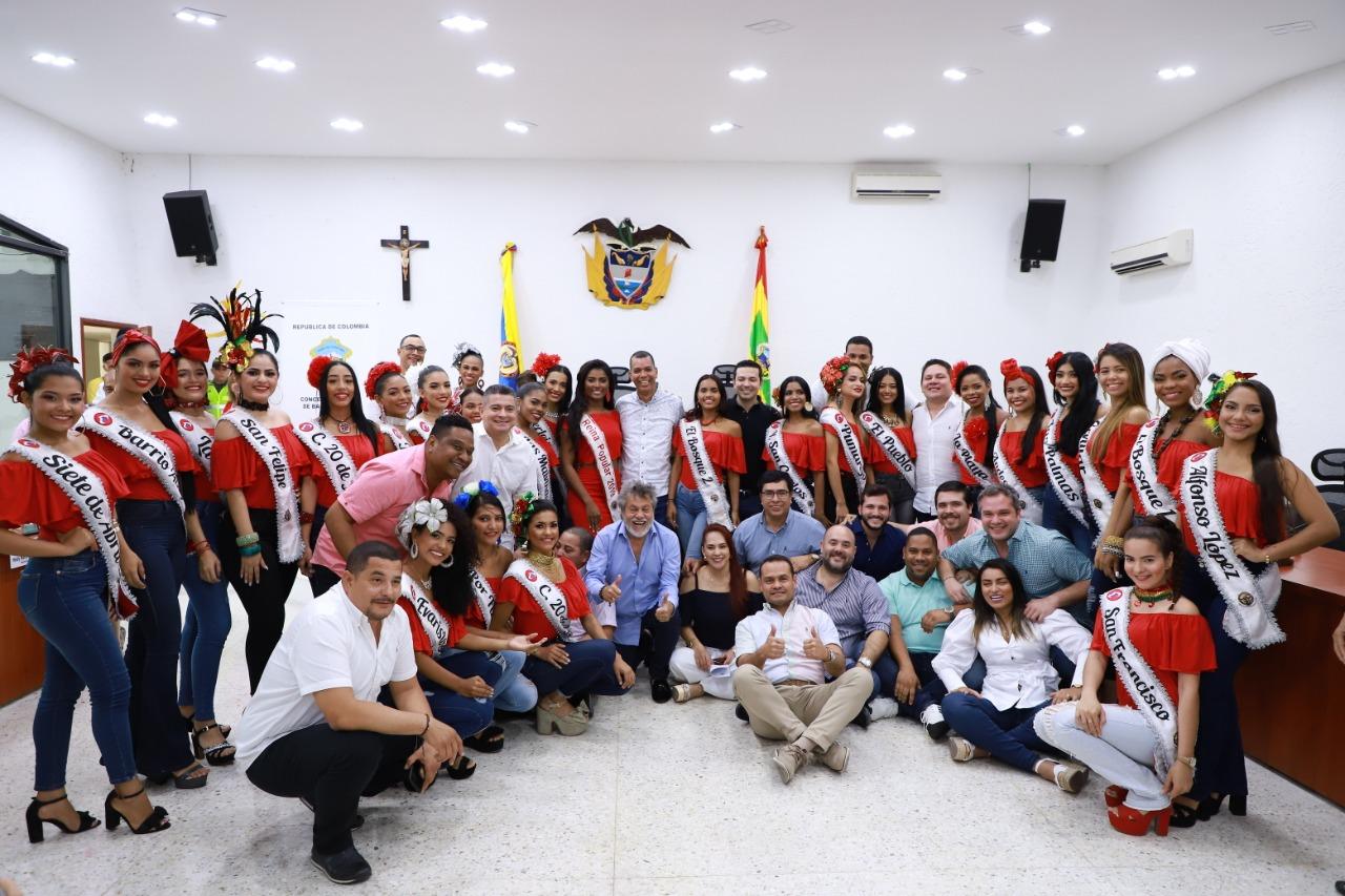 Reinas Populares invitadas especiales al Concejo de Barranquilla