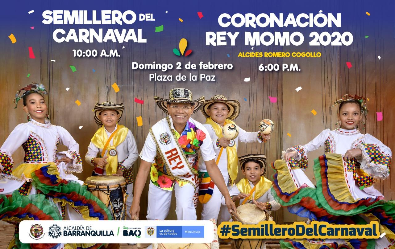 Este domingo, Semillero del Carnaval y Coronación del Rey Momo 2020