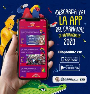 Aplicación móvil del Carnaval de Barranquilla 2020, con más de 10 mil descargas