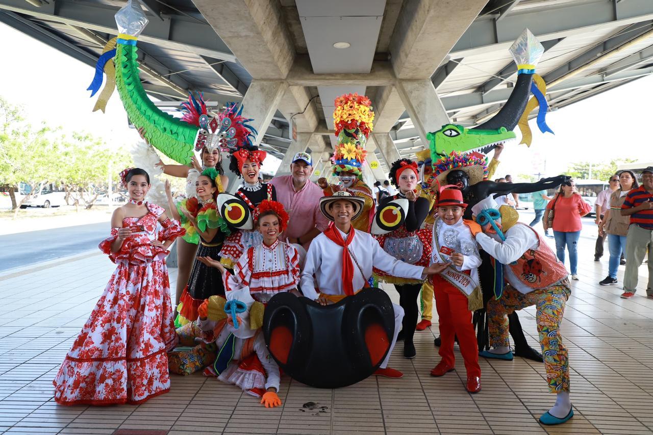 Desde hoy, Carnaval de Barranquilla es la nueva imagen de tarjeta de Transmetro