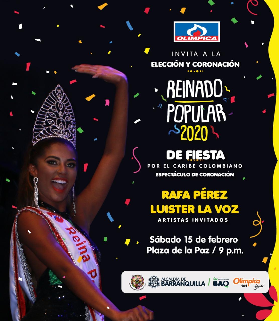 Elección y Coronación Reina Popular 2020, un homenaje a las Fiestas del Caribe