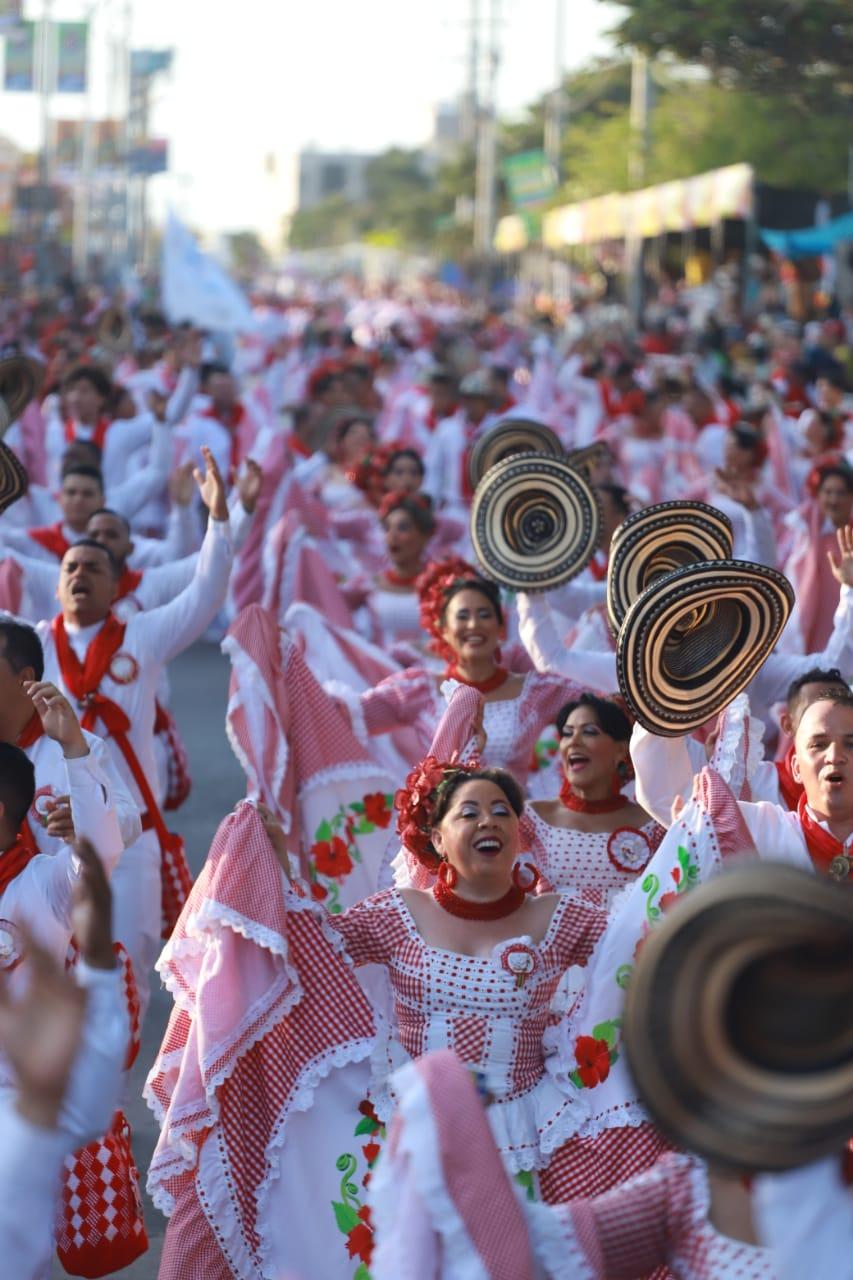 La fuerza cultural del Carnaval de Barranquilla, presente en la Gran Parada de Tradición