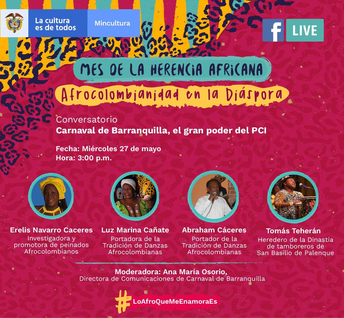 Festival Digital de la Herencia Africana llega al Ministerio de Cultura
