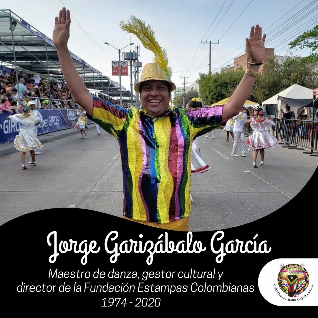 Se fue un grande de la danza, Jorge Garizábalo García, director de la Fundación Estampas Colombianas
