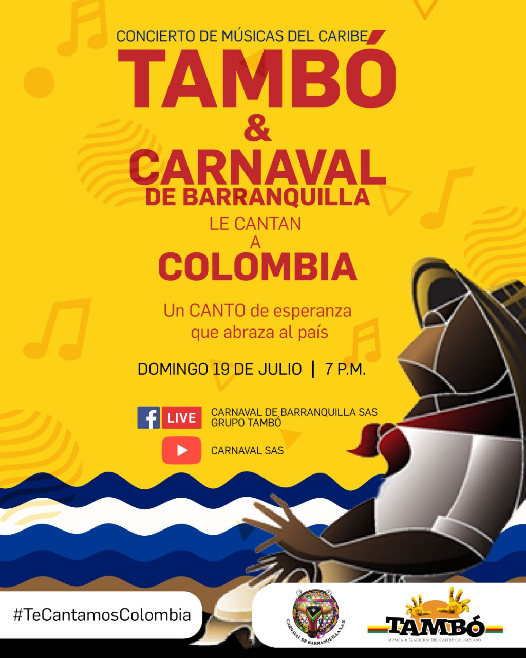 Tambó y Carnaval de Barranquilla le cantan a Colombia