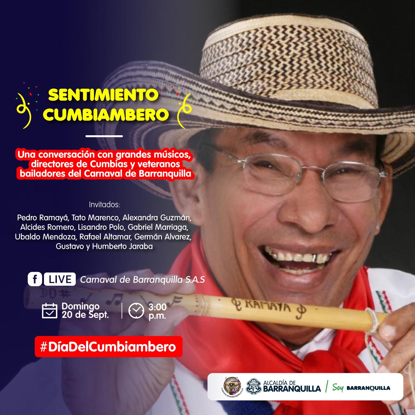 Carnaval de Barranquilla celebra Día del Cumbiambero por Facebook Live