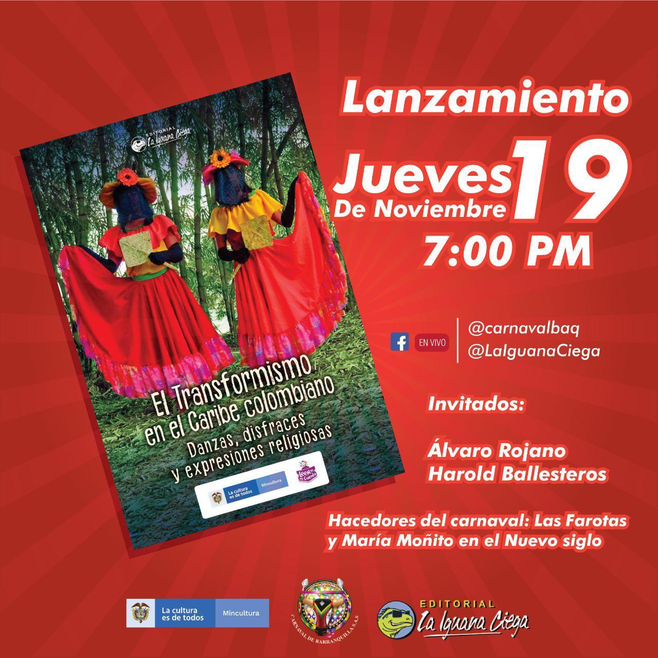 Lanzamiento de libro «El transformismo en el Carnaval», hoy a las 7:00 pm