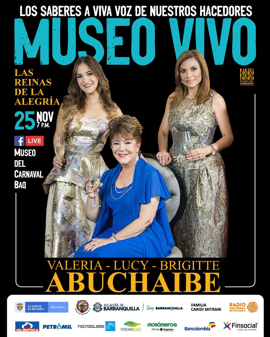 Mañana en Museo en Vivo conversatorio con la Dinastía Abuchaibe