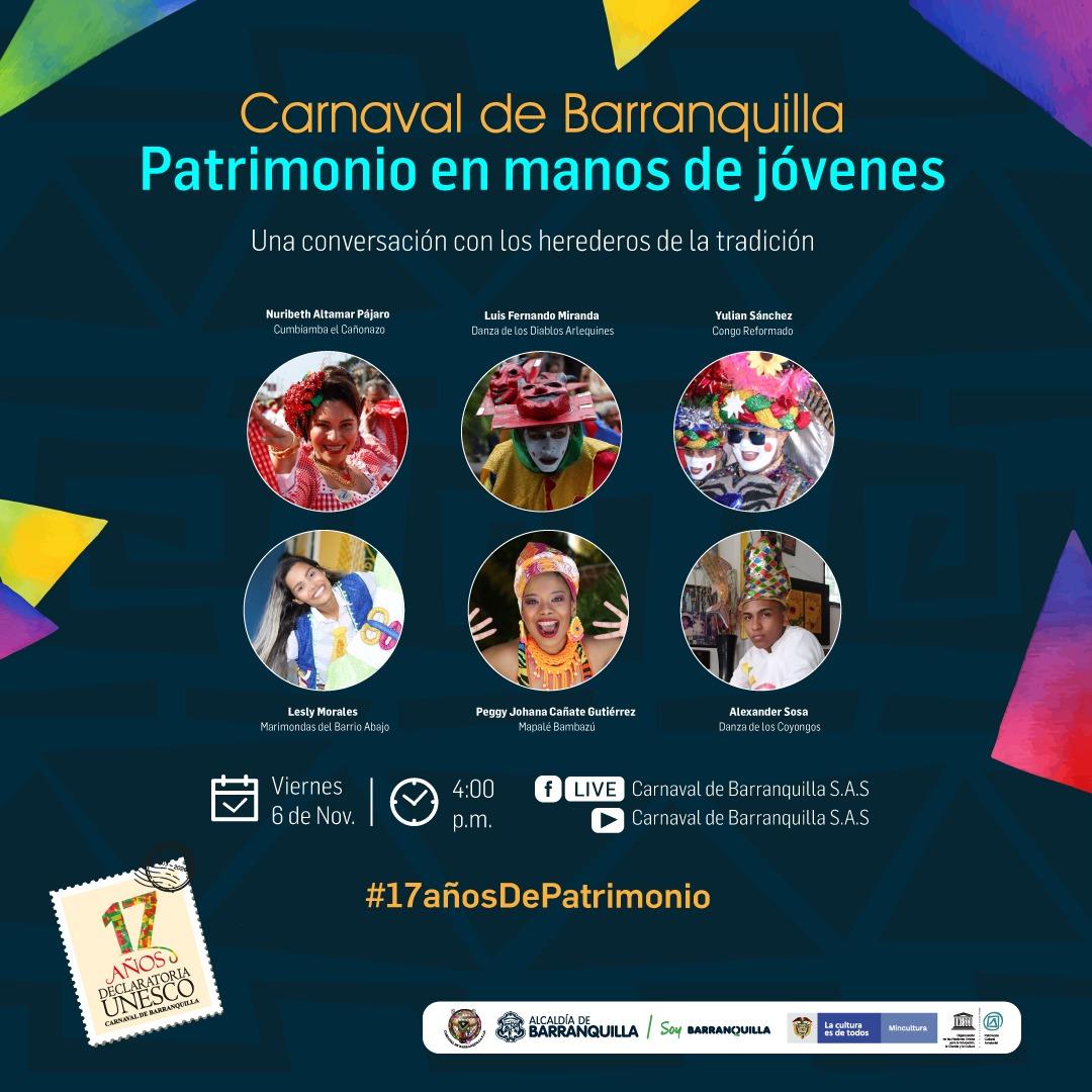 Carnaval de Barranquilla celebra 17 años como Patrimonio de la Humanidad con jóvenes herederos de la tradición